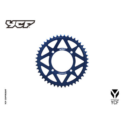 CNC SPROCKET 37 BLUE